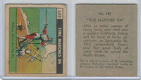 R150 Strip Card, Time Marches On, 1930's, #603 Balboa Discovers Pacific