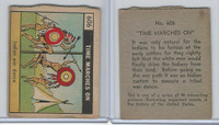 R150 Strip Card, Time Marches On, 1930's, #606 Indian War Dance