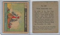 R150 Strip Card, Time Marches On, 1930's, #608 Pilgrims Landing