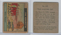 R150 Strip Card, Time Marches On, 1930's, #612 Boston Massacre