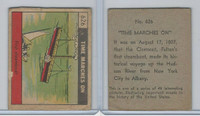 R150 Strip Card, Time Marches On, 1930's, #626 Steamboat Fulton Clermont