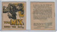 R151 National Chicle, Tom Mix Booklets, 1934, #8 Saves The Day