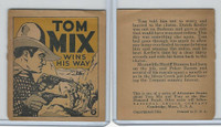 R151 National Chicle, Tom Mix Booklets, 1934, #9 Wins His Way