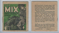 R151 National Chicle, Tom Mix Booklets, 1934, #19 Rides Against Death