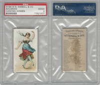 N186 Kimball, Dancing Women, 1889, Bavarian, PSA 2 Good