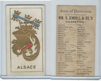 N181 Kimball, Arms of Dominions, 1888, Alsace