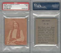 R184-2 Strip Card, Indian Chiefs, 1930's, #102 Red Cloud, PSA 7 NM