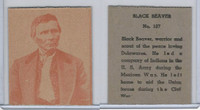 R184-2 Strip Card, Indian Chiefs, 1930's, #107 Black Beaver, Delawares