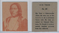 R184-2 Strip Card, Indian Chiefs, 1930's, #109 Big Tree, Comanche
