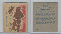 R185 Strip Card, Indian and Western, 1930's, #55 Prairie Fire