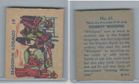 R185 Strip Card, Indian and Western, 1930's, #61 Cowboy Whoopee