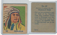 R185 Strip Card, Indian and Western, 1930's, #62 Ogalalla
