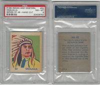R185 Strip Card, Indian and Western, 1930's, #62 Ogalalla, PSA 8 NMMT