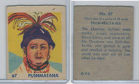 R185 Strip Card, Indian and Western, 1930's, #67 Push-Ma-Ta-Ha