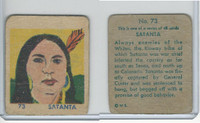 R185 Strip Card, Indian and Western, 1930's, #73 Satanta