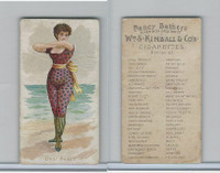 N187 Kimball, Fancy Bathers, 1889, Deal Beach