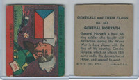 R58 WS Corp, Generals & Their Flags, 1939, #443 General Horvath, Czechoslovakia