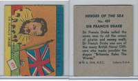 R67 WS Corp, Heroes of the Sea, 1939, #459 Sir Francis Drake, Flag