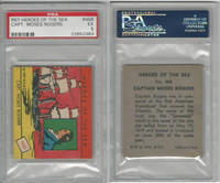 R67 WS Corp, Heroes of the Sea, 1939, #468 Capt. Moses Rogers, PSA 5 EX
