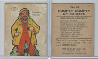 R70 Shelby Gum, Humpty Dumpty Up-To-Date, 1930's, #18 Solomon Grundy