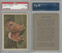 R724-4 Oak M., Premiere Trading Cards-Dogs, 1957,  Chow-Chow, PSA 7 NM