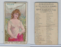 N188 Kimball, Goddesses of the Greeks & Romans, 1889, Aglaia