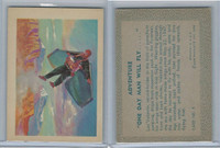 """R749 Gum Products, Adventure, 1956, #5 """"One Day Man Will Fly..."""""""