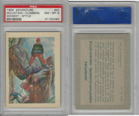 R749 Gum Products, Adventure, 1956, #40 Mountain-Climbing, Monkey, PSA 8 NMMT