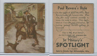 R76 Sperry Candy, In History's Spotlight, 1930's, #9 Paul Revere's Ride