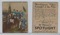 R76 Sperry Candy, In History's Spotlight, 1930's, #12 Washington Takes
