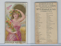 N188 Kimball, Goddesses of the Greeks & Romans, 1889, Ceres