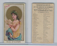 N188 Kimball, Goddesses of the Greeks & Romans, 1889, Clio