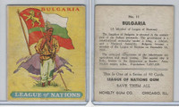 R80 Novelty Gum, League Of Nations, 1930's, #11 Bulgaria