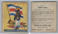 R80 Novelty Gum, League Of Nations, 1930's, #16 Costa Rica