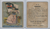 R80 Novelty Gum, League Of Nations, 1930's, #22 Germany