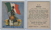R80 Novelty Gum, League Of Nations, 1930's, #32 Mexico Flag