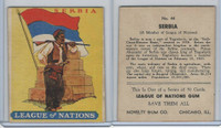 R80 Novelty Gum, League Of Nations, 1930's, #44 Serbia Flag