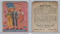 R80 Novelty Gum, League Of Nations, 1930's, #50 United States Flag