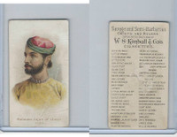N189 Kimball, Savage & Semi-Barbarous Chiefs, 1890, Maharao Jajah Of Ulwar