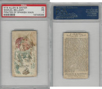 N19 Allen & Ginter, Pirates of the Spanish Main, #2 Samuel Bellamy, PSA 1