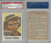 1966 Leaf, Good Guys and Bad Guys, #12 Emmet Dalton, PSA 8 NMMT