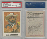 1966 Leaf, Good Guys and Bad Guys, #14 Bill Anderson, PSA 7 NM