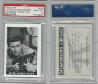 1967 Leaf, Garrison's Gorillas, #54 Actor Covers Escape, PSA 8 NMMT