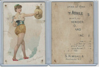 N196 Kimball, Pretty Athletes, 1889, Sand Bag Exercise