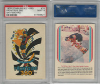 1978 Donruss, All-Pro Skateboard, #18 Frontside 360, PSA 9 Mint