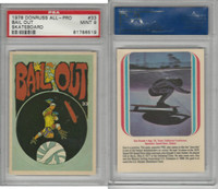1978 Donruss, All-Pro Skateboard, #33 Bail Out, PSA 9 Mint