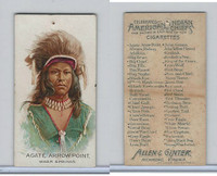 N2 Allen & Ginter, American Indian Chiefs, 1888, Agate Arrow Point