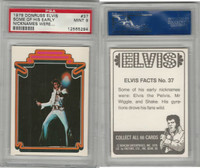 1978 Donruss, Elvis Presley, #37 Some Of His Early Nicknames Were, PSA 9 Mint