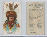 N2 Allen & Ginter, Celebrated American Indian Chiefs, 1888, Big Razor
