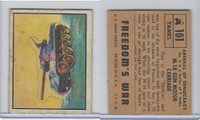 1950 Topps, Freedoms War, #101 M-18 Gun Motor Carriage